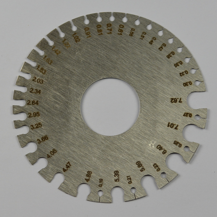 Measuring Amp Gauging Tools : Steel round wire swg mm measuring measure gauge