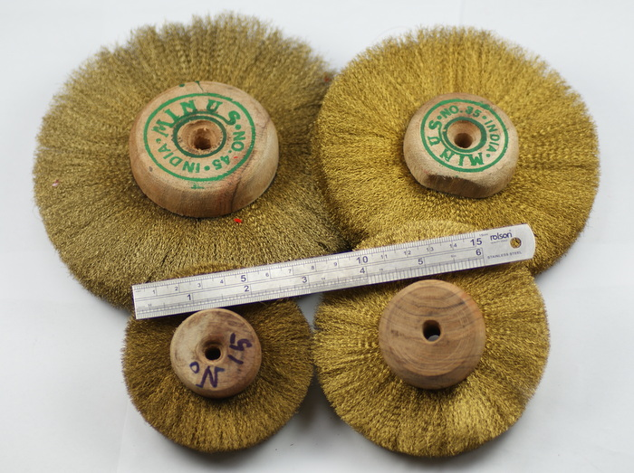 Brass-wire-wheel-brush-wooden-hub-3-6-polishing-grinding-grinder-jewellers